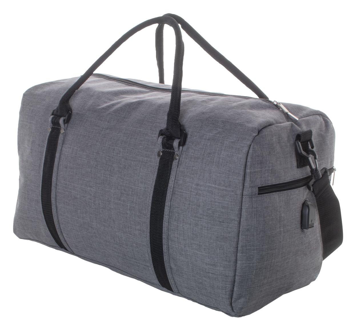 Donatox, Sportska torba s džepom na patentni zatvarač, naramenicom i ugrađenim USB priključkom za prijenosne punjače